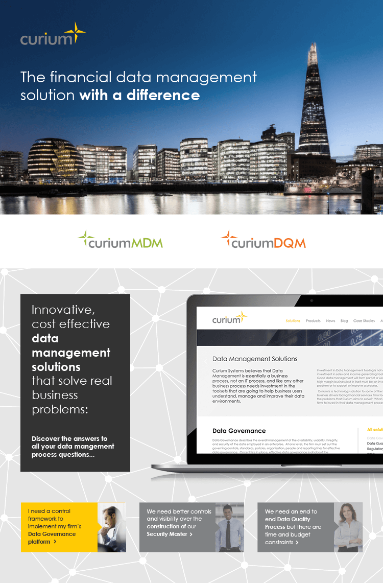 Curium website header