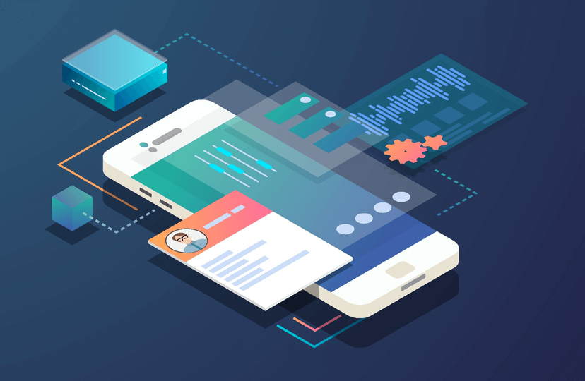 Web app illustration
