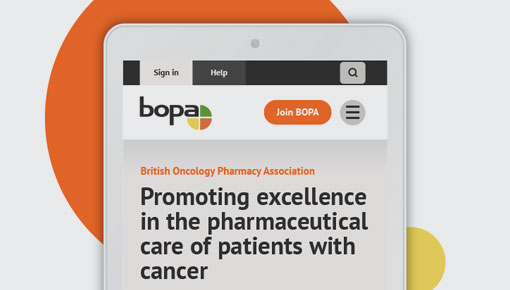 BOPA - A professional association website shown on a phone